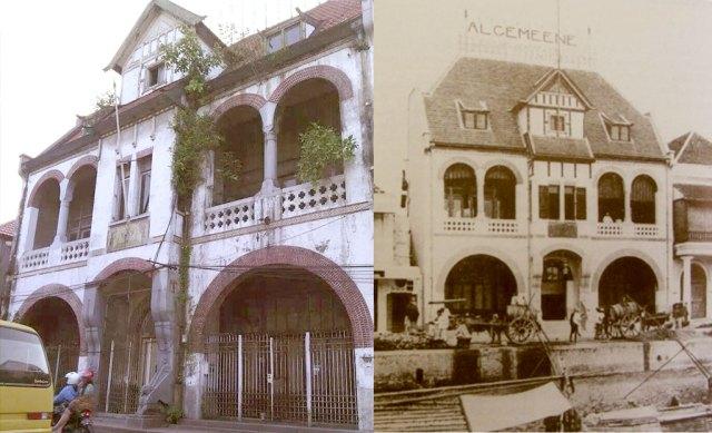 Foto 1: Algemeene Surabaya. Foto kiri dari Musawir Boxer untuk STD, kanan dari buku Sergio Polano <em>Hendrik Petrus Berlage: The Complete Works</em> (1988)