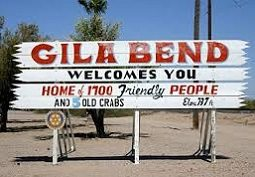 Gila Bend welcome sign.