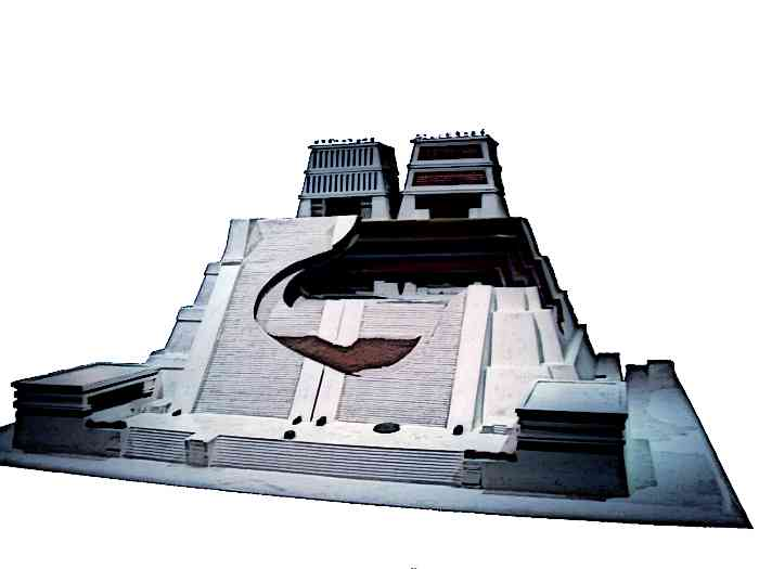 Scale Model of the Aztec Temple Templo Mayor in Tenochtitlan