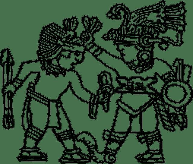 Aztec-Warriors-Drawings