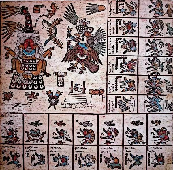 The-Aztec-Version of the 260-day Mesoamerican calendar Codex Borbonicus trecena 13