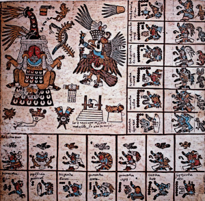 The Aztec Version of the 260-day Mesoamerican calendar Codex Borbonicus trecena 13