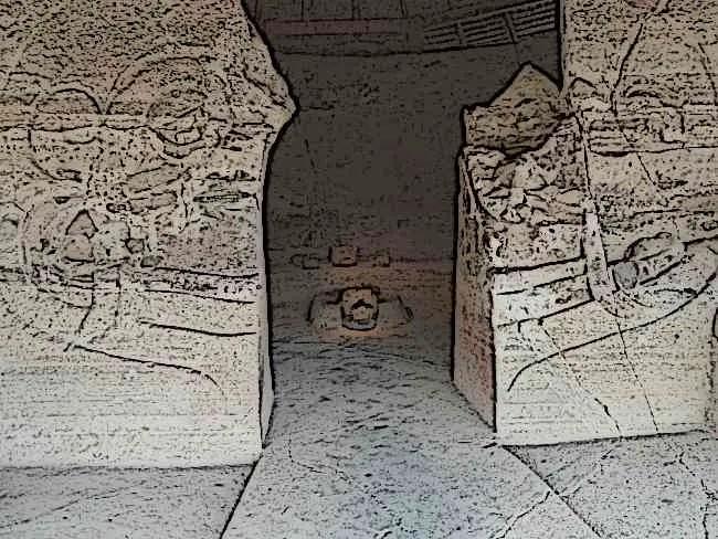 Aztec Eagle Warrior Temple