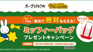 2018/1/31エースコック スープはるさめ・Pho・ccori気分 応募シール15枚集めて絶対もらえる!ミッフィーバッグプレゼントキャンペーン