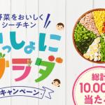 2018/8/31はごろもフーズ 野菜を美味しくシーチキン いっしょにサラダキャンペーン