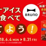 2018/8/31ロッテ ガーナアイスを食べて、BRUNO商品を当てよう!キャンペーン