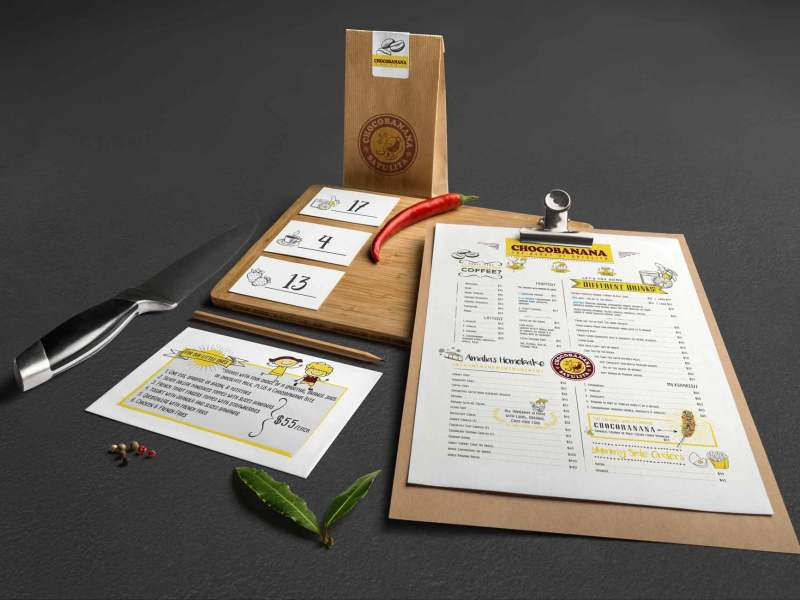 ChocoBanana Menu and Branding