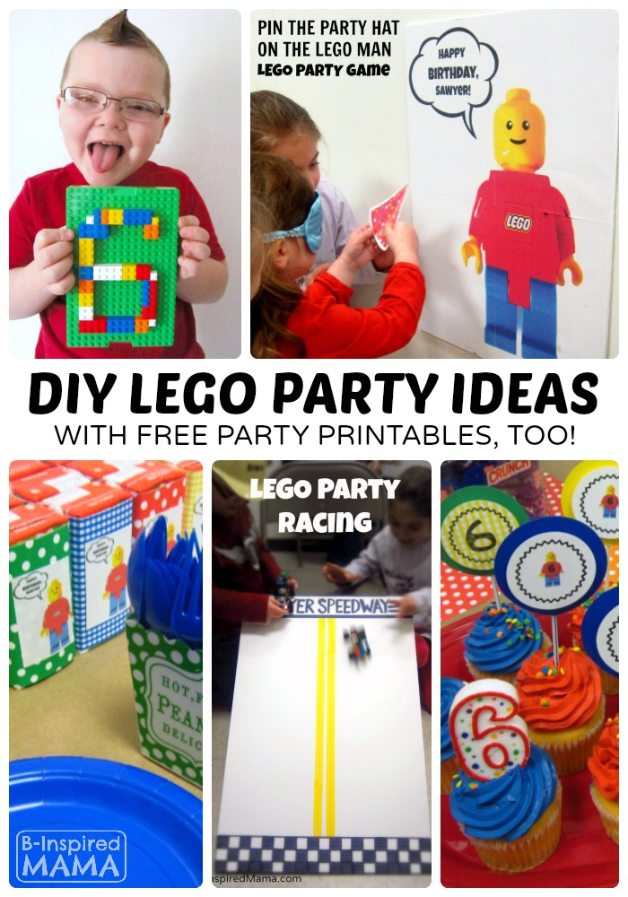 DIY Kids LEGO Party Ideas + Free LEGO Printables at B-Inspired Mama