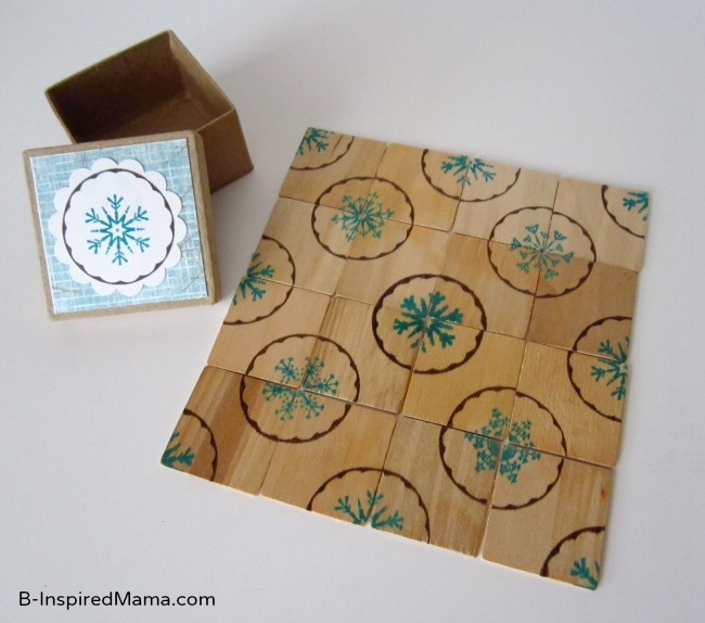 Make a Snowflake Puzzle with PSA Essentials at B-InspiredMama.com