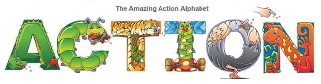 The Amazing Action Alphabet from See Hear Do at B-InspiredMama.com