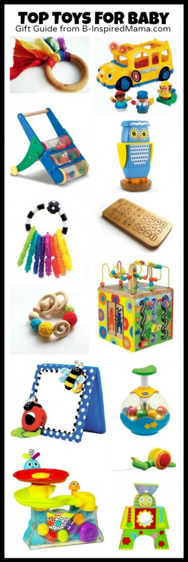 Top Toys for Baby Gift Guide at B-Inspired Mama