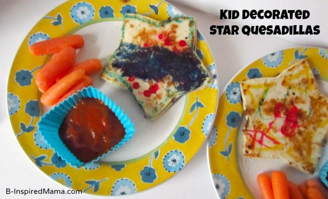 Kids Star Quesadillas at B-InspiredMama