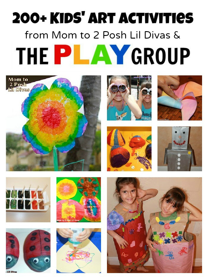 Art Activities from Mom to 2 Posh Lil Divas and The PLAY Group