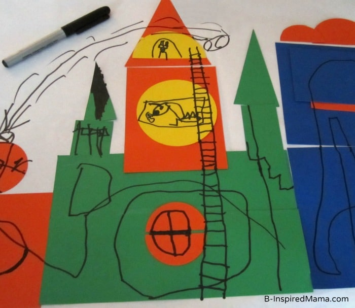 Kids Castle Craft for Poppins Book Nook at B-InspiredMama.com