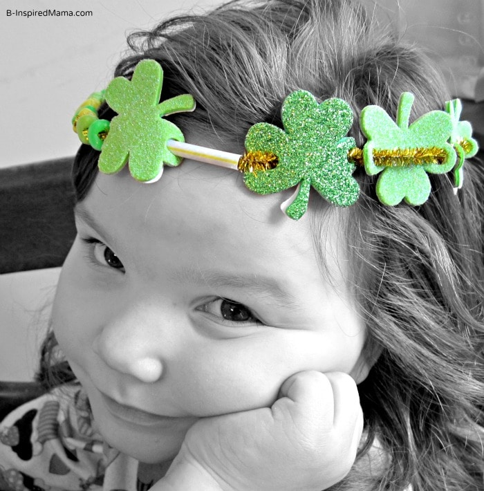 Priscilla in St Patrick Craft Crown at B-InspiredMama.com