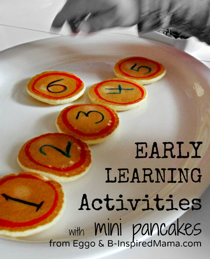 Early Learning with Mini Pancakes [#EggoWaffleOff]