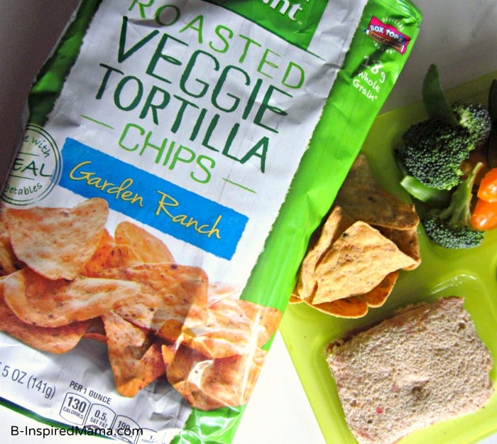 Kids Packed Lunch Ideas with Green Giant Veggie Chips at B-InspiredMama.com
