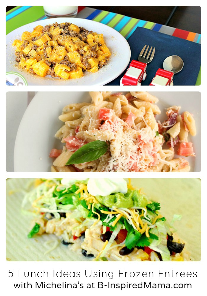 5 Fun Lunch Ideas Using Michelina's Frozen Dinner Entrees at B-Inspired Mama