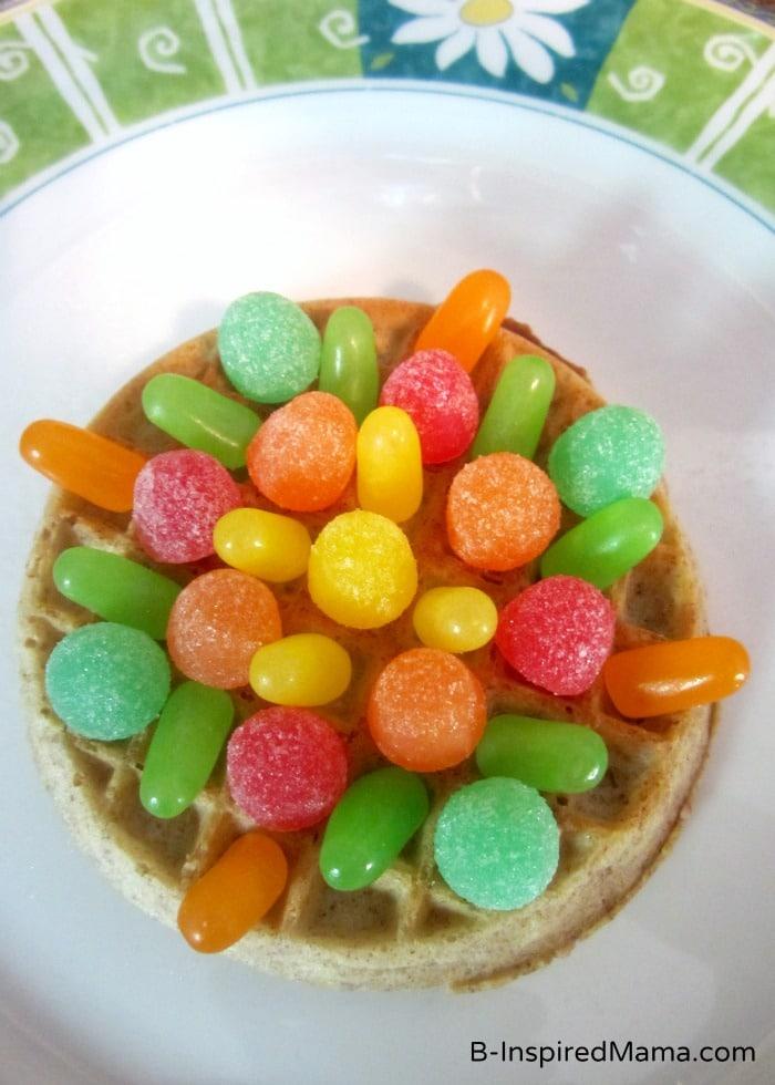 Colorful Eggo Waffle Mandala Kids Snack at B-Inspired Mama