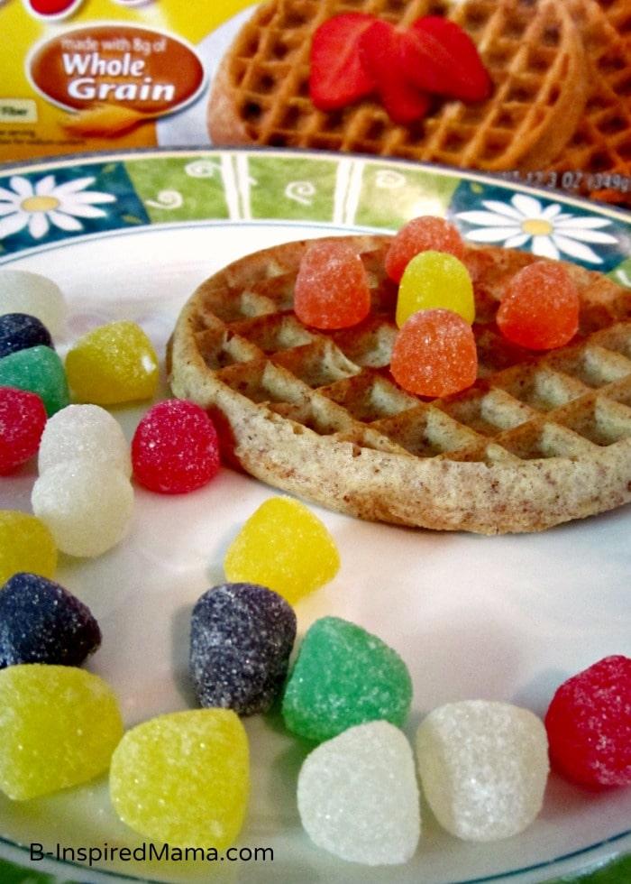 Making Eggo Waffle Mandalas for a Fun Kids Snack at B-Inspired Mama