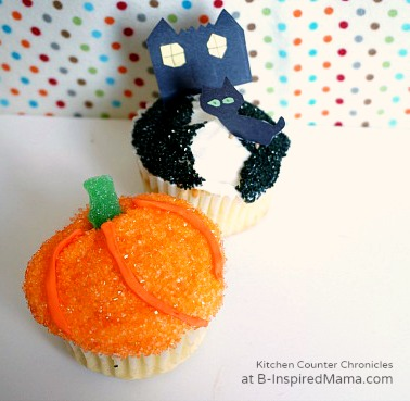 Fun Halloween Cupcakes for Kids at B-Inspired Mama