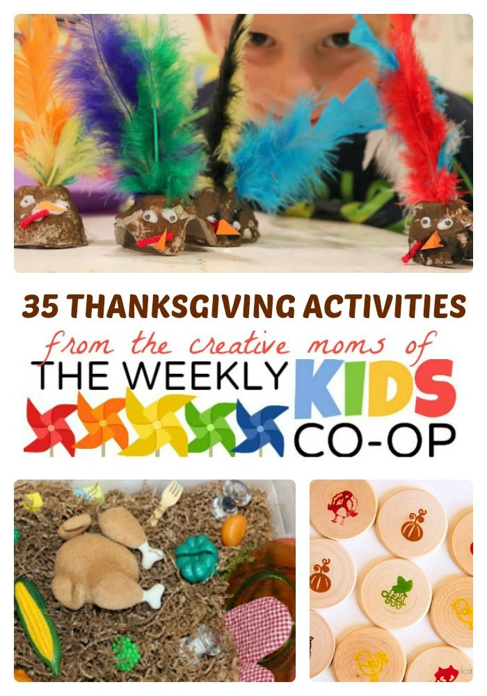 35 Thanksgiving Activities for Kids + Link Party