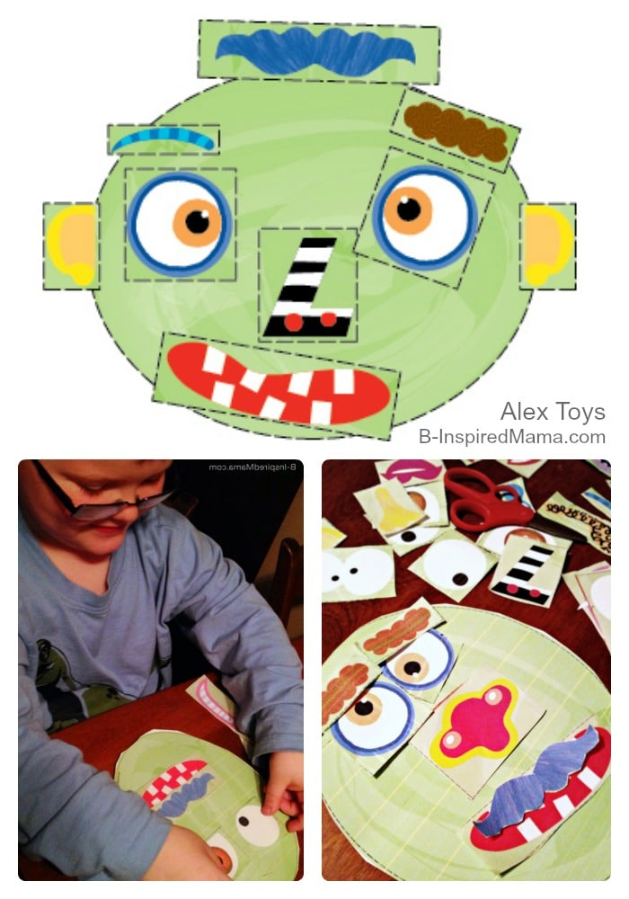 Free Printables for Kids - Make a Monster Face Activity - Sponsored by Alex Toys at B-Inspired Mama