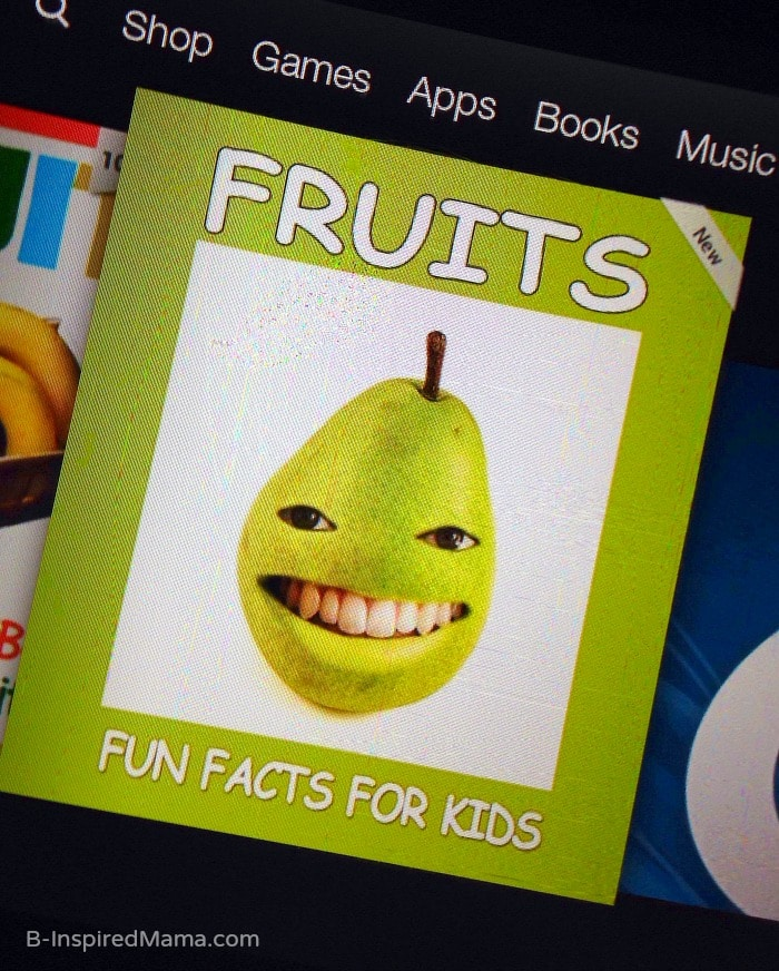 Kids Fruit Learning with eBooks - Sponsored by FruitsMax at B-Inspired Mama
