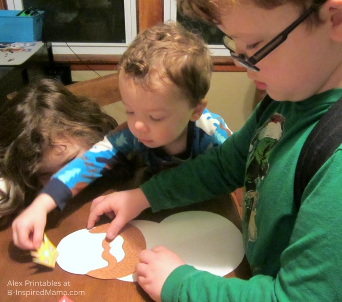 Kids Doing the Snowman Dress-Up - Free Printables for Kids from Alex Toys at B-Inspired Mama