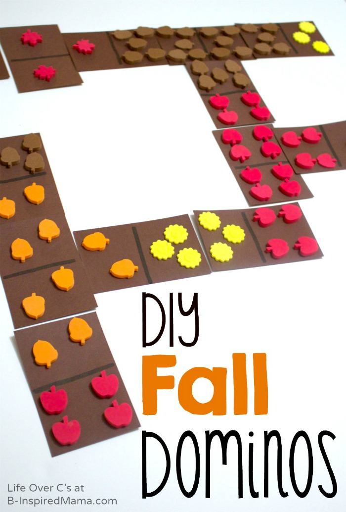 Cool Math Games with DIY Fall Dominos