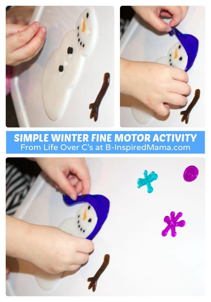 A Simple Winter Fine Motor Activity
