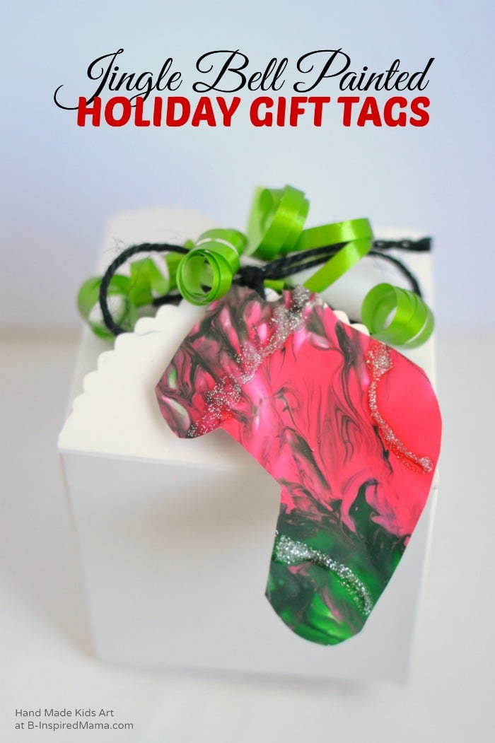 A Jingle Bell Painted Art Project for Kids