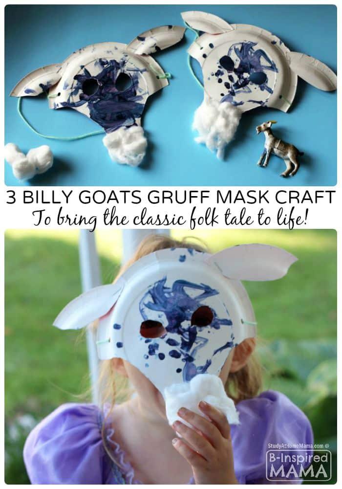 A Fun Billy Goats Gruff Paper Plate Mask Craft