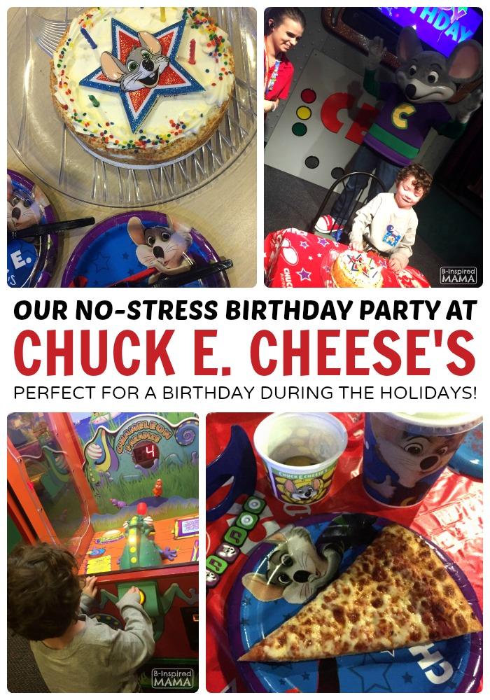 J.C.'s No Stress Chuck E. Cheese's Birthday Party