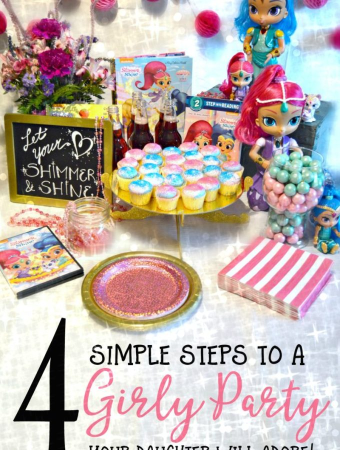 4 Simple Steps to a Girly Party your Daughter will Adore - at B-Inspired Mama