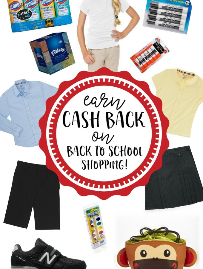Earn Cash Back on Back to School Shopping with Ebates - at B-Inspired Mama