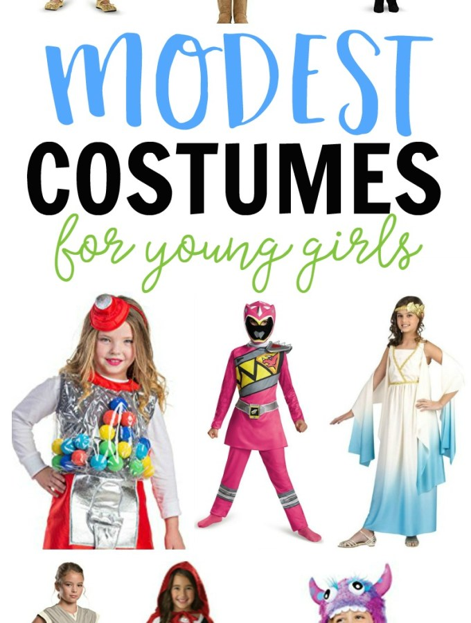 Modest Girl Halloween Costumes - to keep our little girls little as long as we can - at B-Inspired Mama