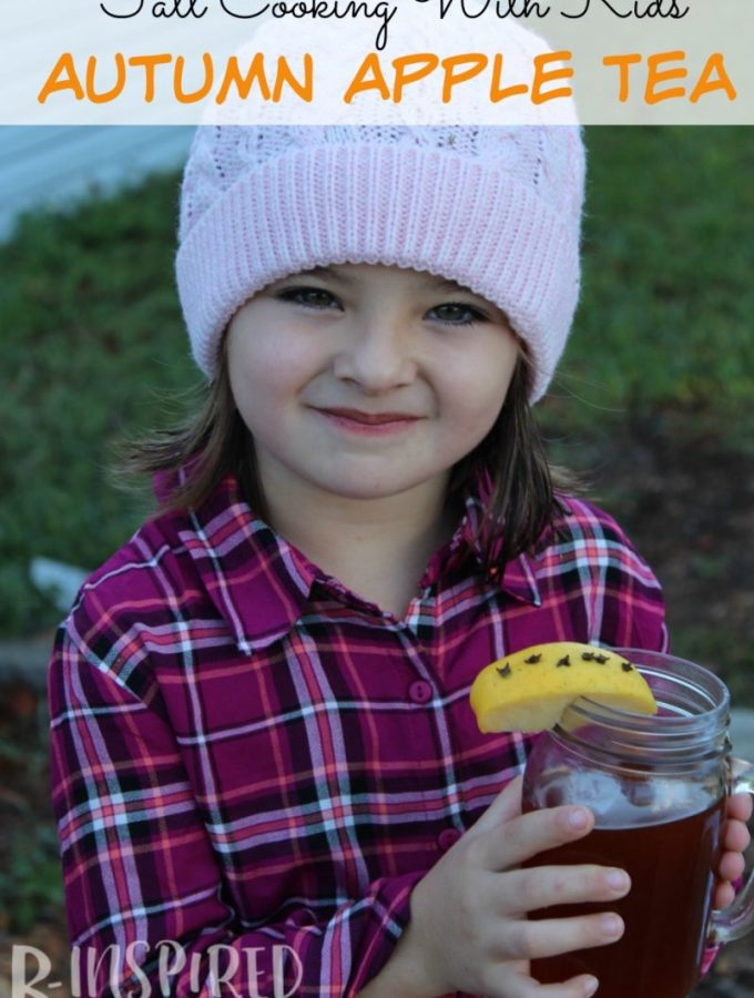 Get the Kids in the kitchen cooking with you this Fall with this Easy and Delicious Apple Tea Recipe