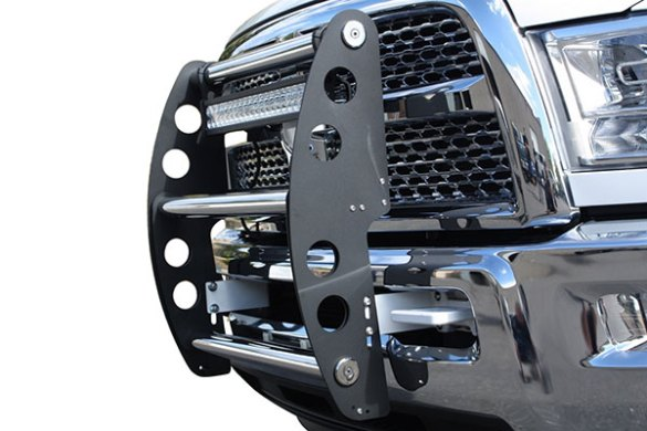 AMI Swing Step   Grille Guard With Front Bumper Step ami swing step grille guard
