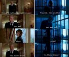 In Batman Begins and The Dark Knight, Alfred and Bruce have the near exact dialogue exchange after the death of a loved one.
