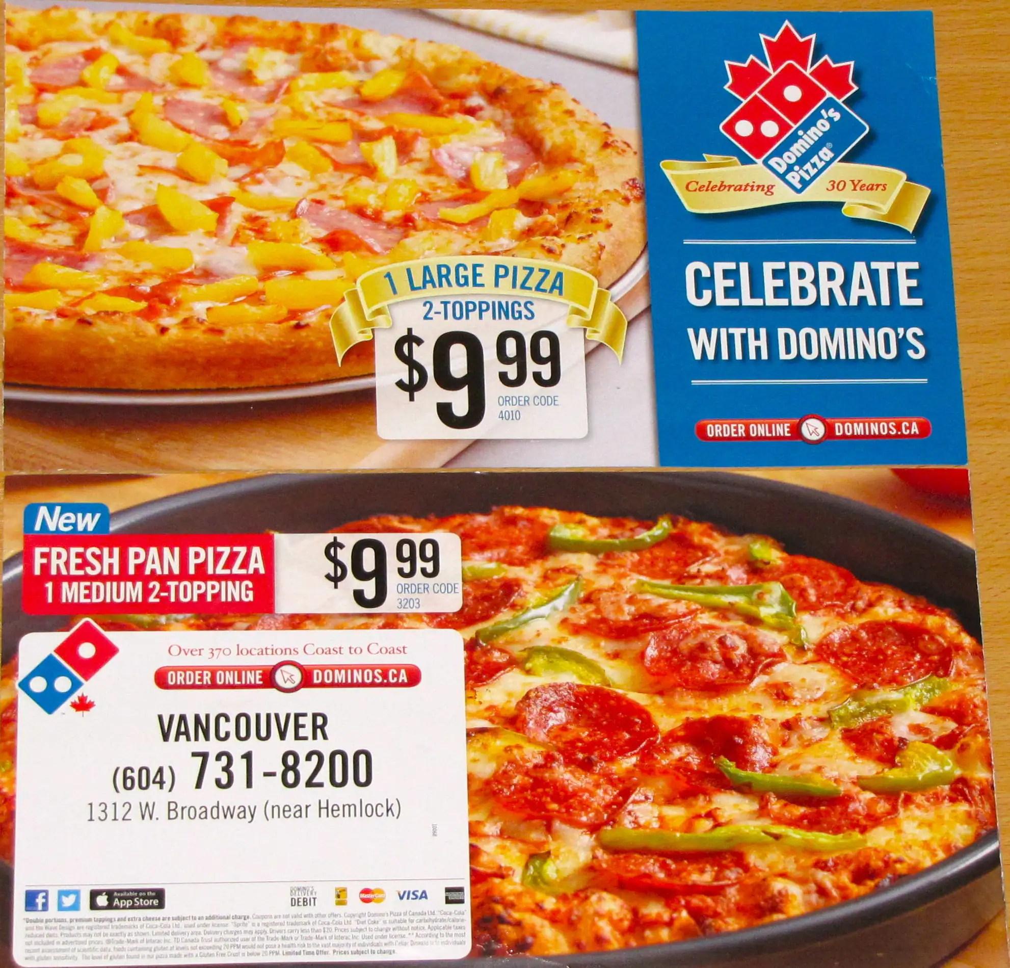 Fullsize Of Dominos Menu Prices