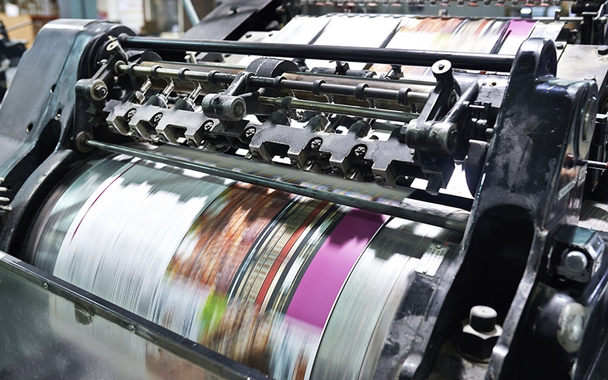 The importance of brochure printing as a marketing tool   B2B Marketing Printing press b2b marketing