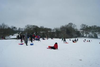 Sledging at Cofton Park by @LickeyHills Rangers
