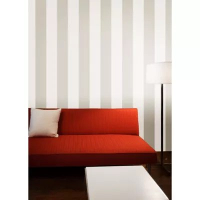 Buy Tempaper® Double Roll Removable Wallpaper in Stripe Taupe from Bed Bath & Beyond