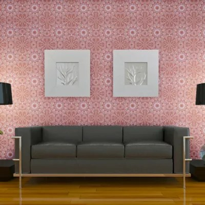 Tempaper® Removable Wallpaper in Medallion Berry   Bed Bath & Beyond