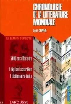 Livres Couvertures de Chronologie de la littérature mondiale
