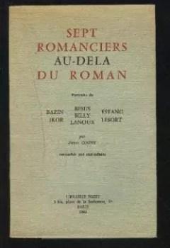 Livres Couvertures de Sept romanciers au delà du roman