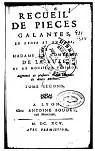 Recueil de pièces galantes en prose et en vers de Mme la Ctesse de La Suze et de M. Pélisson, tome2