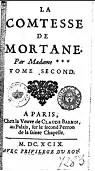 La Comtesse de Mortane, tome2