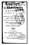 Recueil de pièces galantes en prose et en vers de Mme la Ctesse de La Suze et de M. Pélisson, tome4